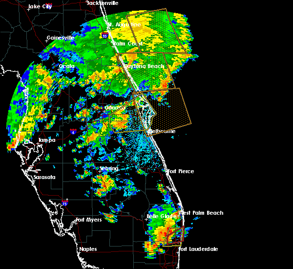 Radar Image for Severe Thunderstorms near Mims, FL at 6/19/2019 4:10 PM EDT