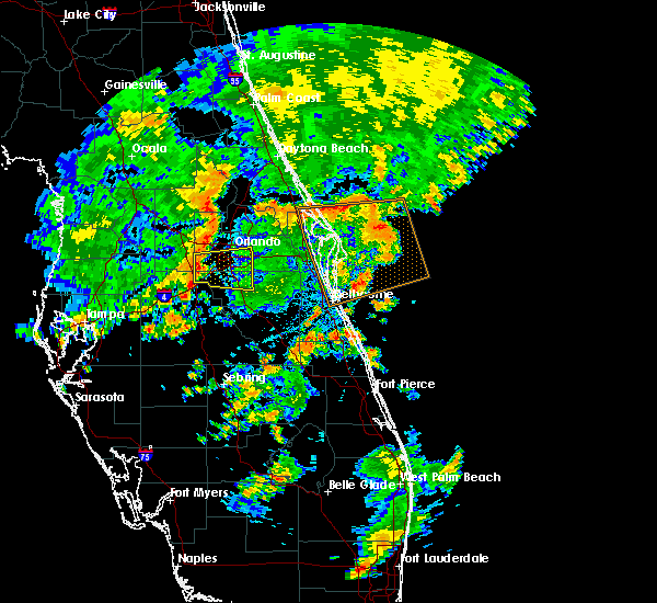 Radar Image for Severe Thunderstorms near Bay Hill, FL at 6/19/2019 5:21 PM EDT