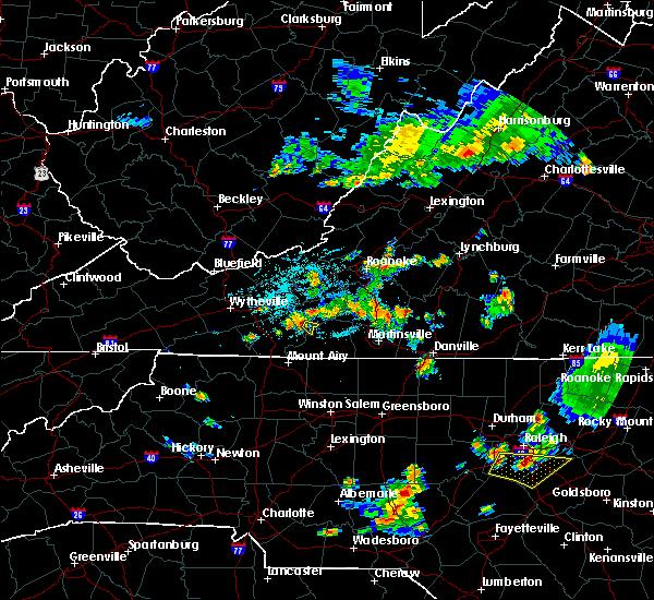 Radar Image for Severe Thunderstorms near Chatmoss, VA at 6/17/2015 11:31 PM EDT