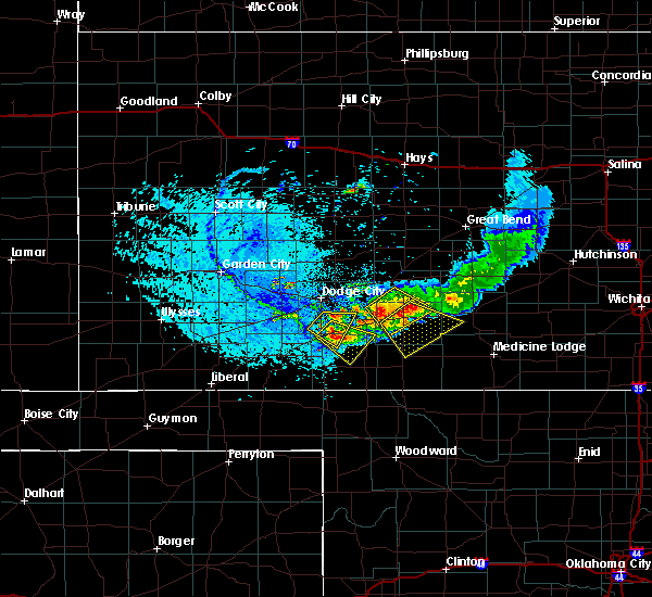 Radar Image for Severe Thunderstorms near Coldwater, KS at 6/19/2019 5:52 PM CDT