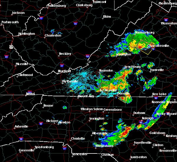 Radar Image for Severe Thunderstorms near Laurel Park, VA at 6/18/2015 12:00 AM EDT