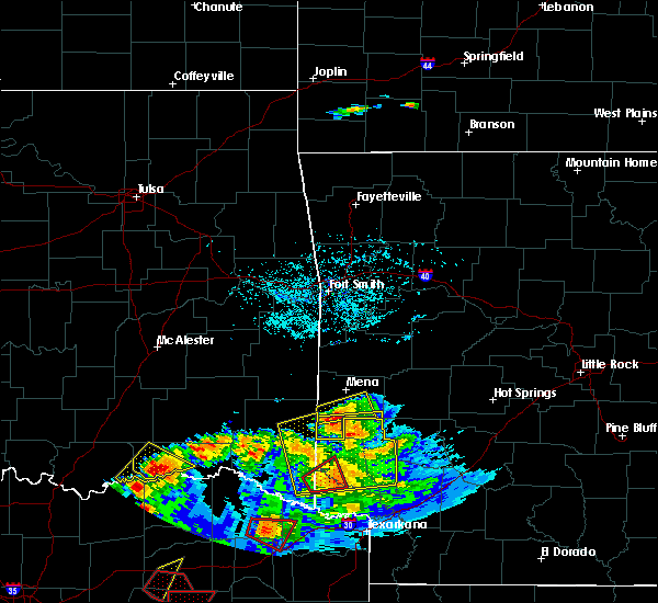 Radar Image for Severe Thunderstorms near Wickes, AR at 6/19/2019 7:02 PM CDT