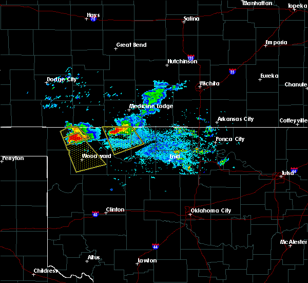 Radar Image for Severe Thunderstorms near Woodward, OK at 6/19/2019 7:40 PM CDT