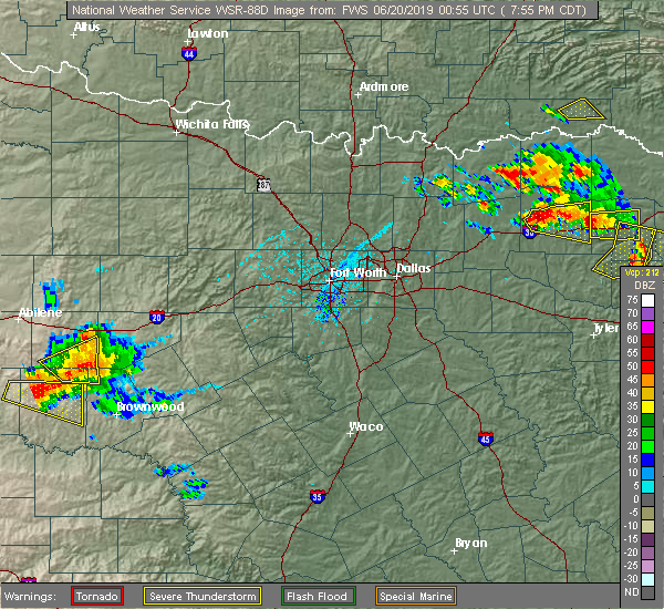 Radar Image for Severe Thunderstorms near Sulphur Springs, TX at 6/19/2019 7:57 PM CDT