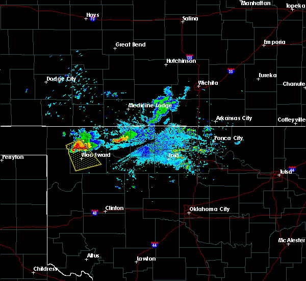 Radar Image for Severe Thunderstorms near Fort Supply, OK at 6/19/2019 8:04 PM CDT