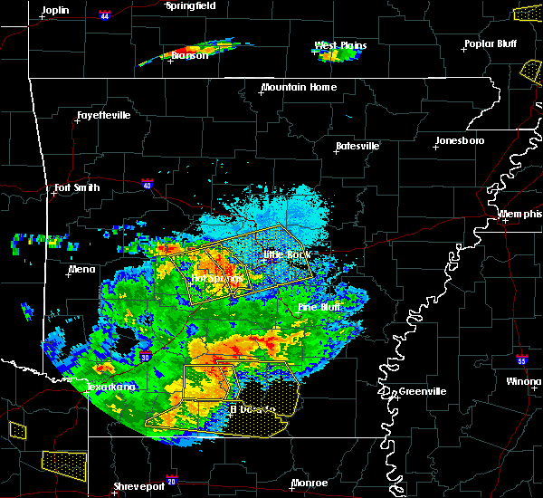 Radar Image for Severe Thunderstorms near McAlmont, AR at 6/19/2019 8:54 PM CDT