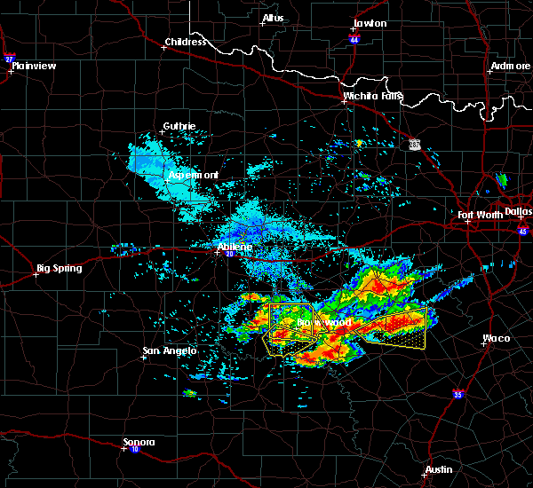 Radar Image for Severe Thunderstorms near Goldthwaite, TX at 6/19/2019 8:58 PM CDT