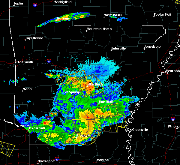 Radar Image for Severe Thunderstorms near Woodson, AR at 6/19/2019 9:33 PM CDT