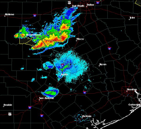 Radar Image for Severe Thunderstorms near Goldthwaite, TX at 6/19/2019 9:37 PM CDT