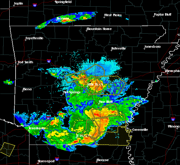 Radar Image for Severe Thunderstorms near Little Rock, AR at 6/19/2019 9:41 PM CDT