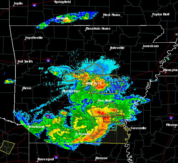 Radar Image for Severe Thunderstorms near Monticello, AR at 6/19/2019 9:47 PM CDT