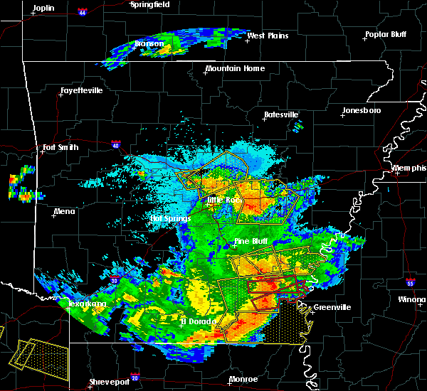 Radar Image for Severe Thunderstorms near Watson, AR at 6/19/2019 10:00 PM CDT