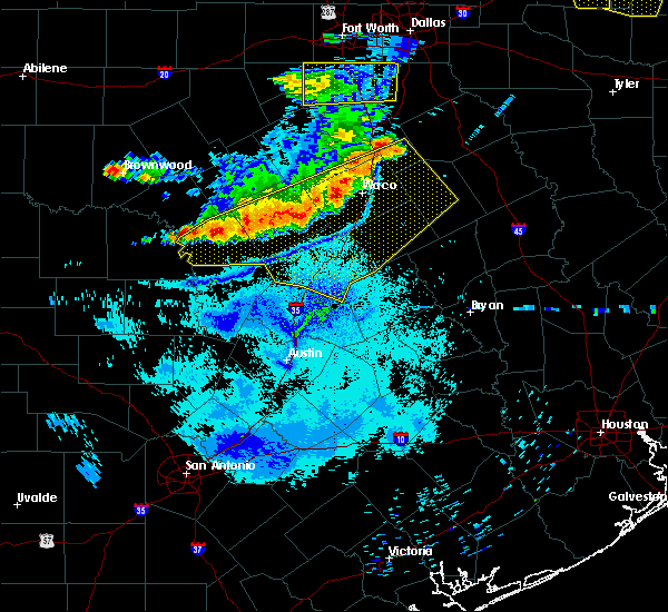 Radar Image for Severe Thunderstorms near Woodway, TX at 6/19/2019 10:06 PM CDT