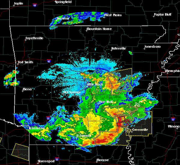 Radar Image for Severe Thunderstorms near Watson, AR at 6/19/2019 10:15 PM CDT