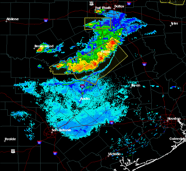Radar Image for Severe Thunderstorms near Gatesville, TX at 6/19/2019 10:27 PM CDT