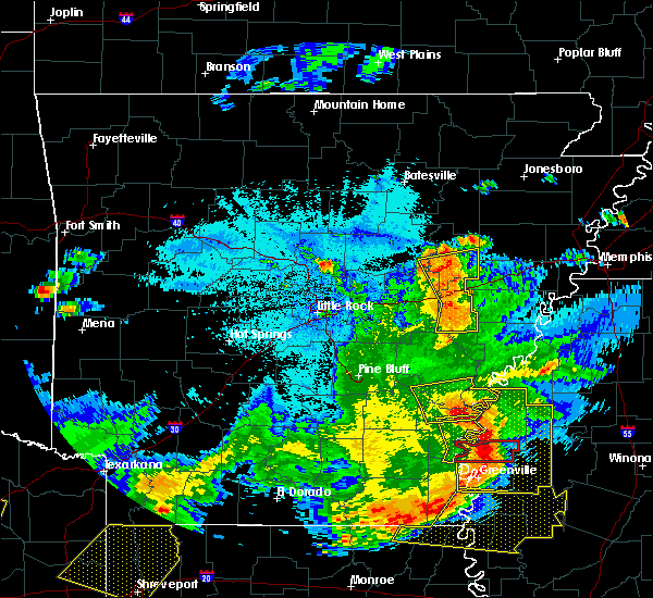 Radar Image for Severe Thunderstorms near Georgetown, AR at 6/19/2019 10:32 PM CDT
