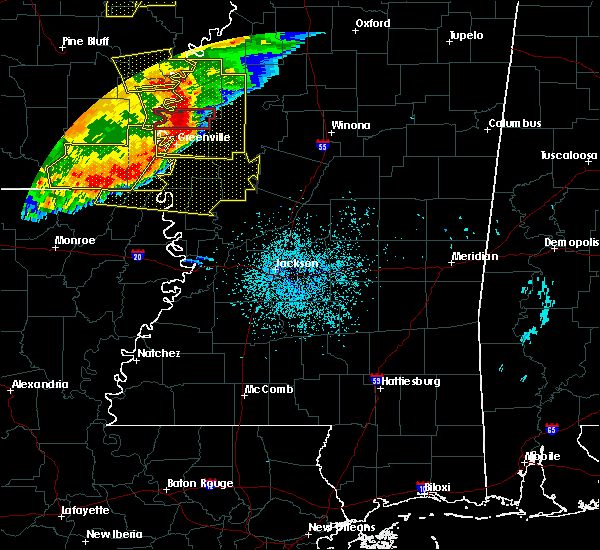 Radar Image for Severe Thunderstorms near Eudora, AR at 6/19/2019 10:33 PM CDT