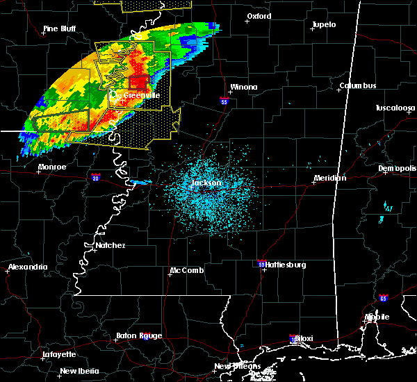 Radar Image for Severe Thunderstorms near Ruleville, MS at 6/19/2019 10:44 PM CDT