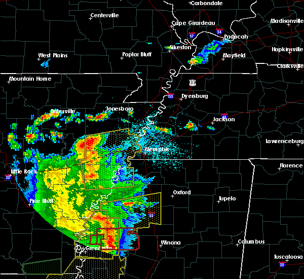 Radar Image for Severe Thunderstorms near West Memphis, AR at 6/19/2019 11:05 PM CDT