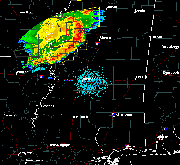 Radar Image for Severe Thunderstorms near Carrollton, MS at 6/19/2019 11:19 PM CDT
