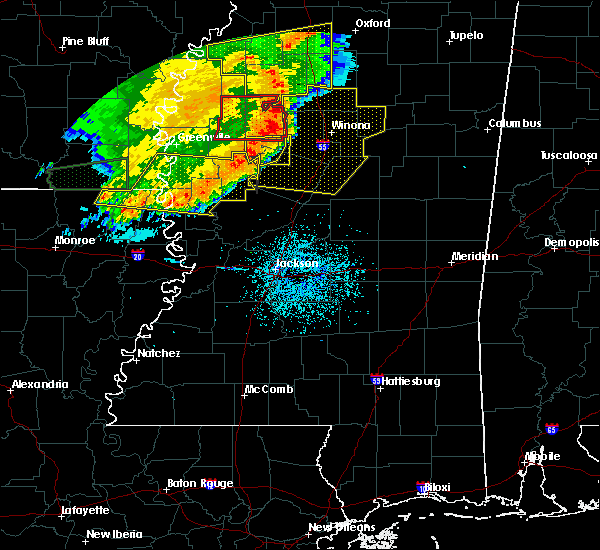 Radar Image for Severe Thunderstorms near Ruleville, MS at 6/19/2019 11:23 PM CDT