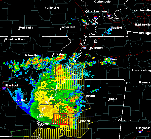 Radar Image for Severe Thunderstorms near Sumner, MS at 6/19/2019 11:31 PM CDT