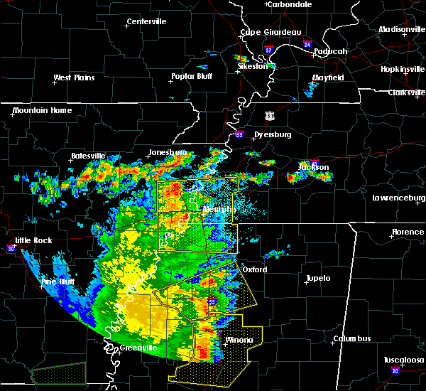 Radar Image for Severe Thunderstorms near Memphis, TN at 6/19/2019 11:38 PM CDT