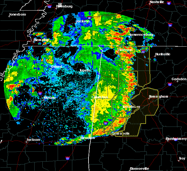 Radar Image for Severe Thunderstorms near Elkmont, AL at 6/20/2019 2:36 AM CDT
