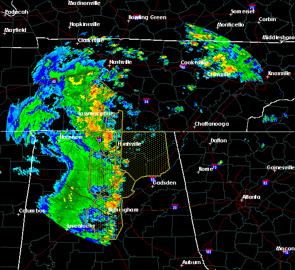 Radar Image for Severe Thunderstorms near Section, AL at 6/20/2019 3:24 AM CDT