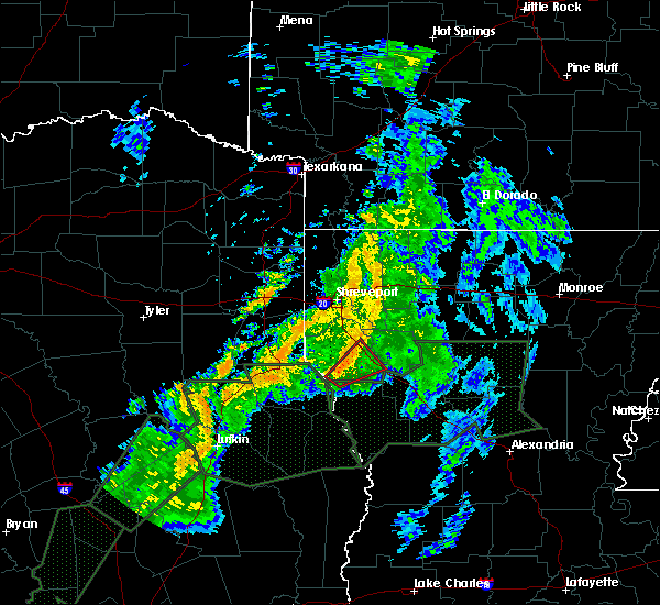 Radar Image for Severe Thunderstorms near South Mansfield, LA at 6/18/2015 4:59 AM CDT