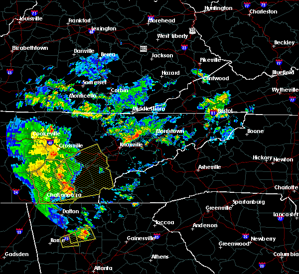 Radar Image for Severe Thunderstorms near Englewood, TN at 6/20/2019 6:34 AM EDT