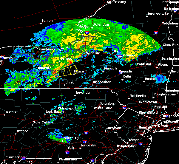 Radar Image for Severe Thunderstorms near Auburn, NY at 6/20/2019 11:53 AM EDT