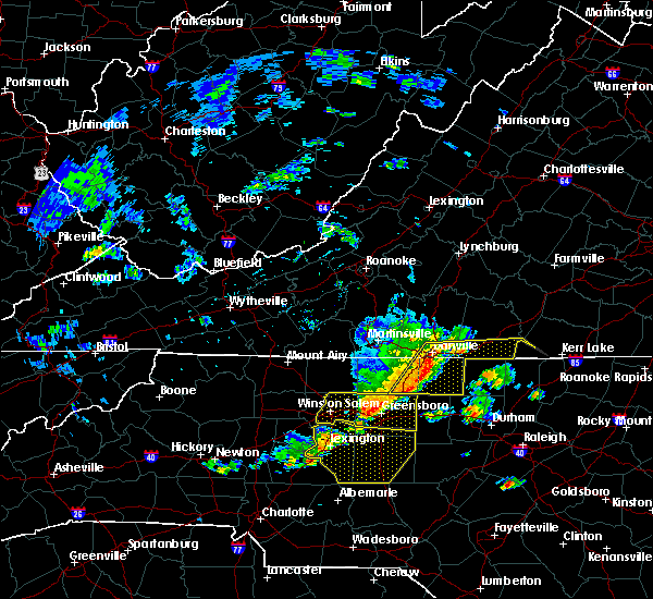 Radar Image for Severe Thunderstorms near High Point, NC at 6/20/2019 2:27 PM EDT