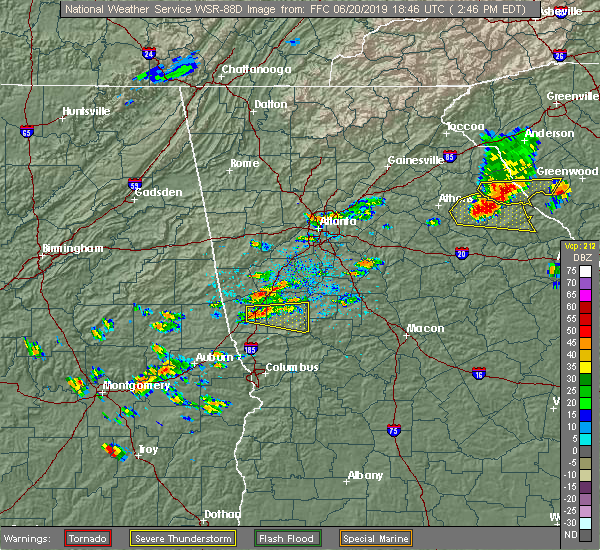Radar Image for Severe Thunderstorms near Gay, GA at 6/20/2019 2:51 PM EDT