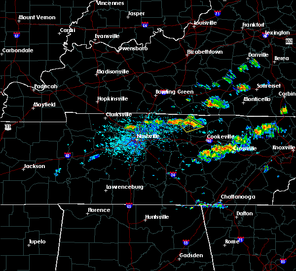 Radar Image for Severe Thunderstorms near Gainesboro, TN at 6/20/2019 2:54 PM CDT
