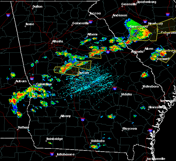 Radar Image for Severe Thunderstorms near Barnesville, GA at 6/20/2019 4:00 PM EDT