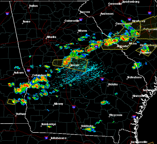 Radar Image for Severe Thunderstorms near Macon, GA at 6/20/2019 4:17 PM EDT
