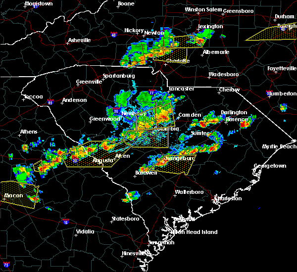 Radar Image for Severe Thunderstorms near Cameron, SC at 6/20/2019 4:19 PM EDT