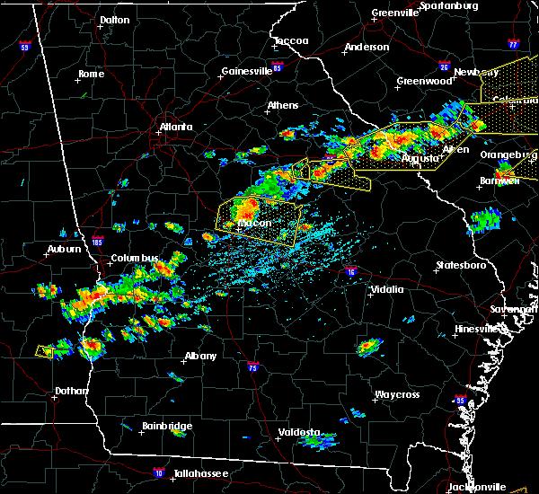 Radar Image for Severe Thunderstorms near Warrenton, GA at 6/20/2019 4:27 PM EDT