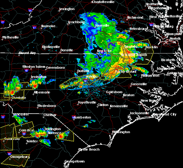 Radar Image for Severe Thunderstorms near Clayton, NC at 6/20/2019 4:30 PM EDT