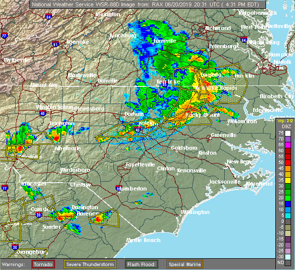 Radar Image for Severe Thunderstorms near Halifax, NC at 6/20/2019 4:34 PM EDT