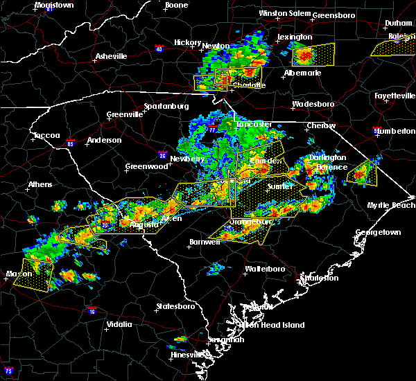 Radar Image for Severe Thunderstorms near Orangeburg, SC at 6/20/2019 4:45 PM EDT