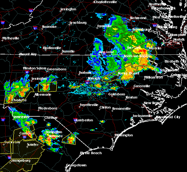 Radar Image for Severe Thunderstorms near Bennett, NC at 6/20/2019 4:52 PM EDT
