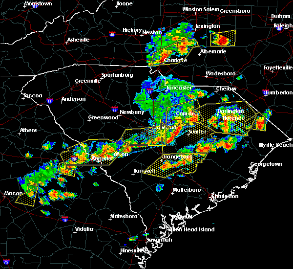 Radar Image for Severe Thunderstorms near Mullins, SC at 6/20/2019 4:54 PM EDT