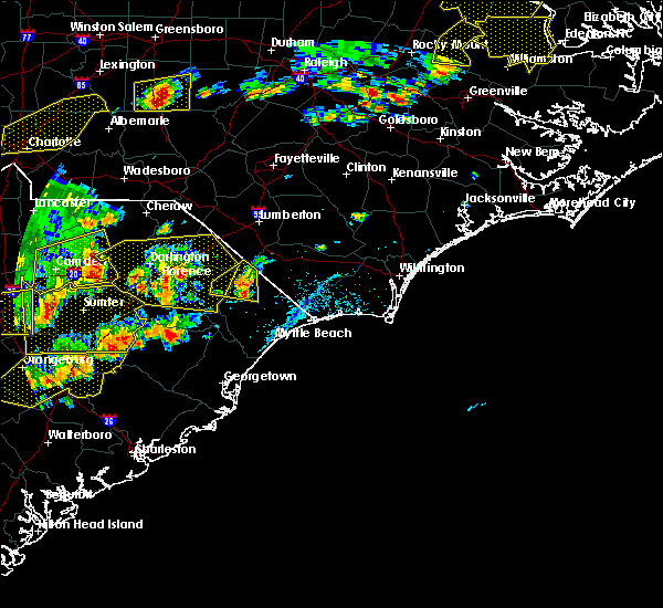 Radar Image for Severe Thunderstorms near Johnsonville, SC at 6/20/2019 4:56 PM EDT