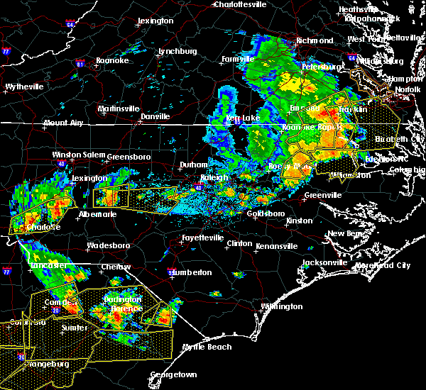 Radar Image for Severe Thunderstorms near Sanford, NC at 6/20/2019 5:00 PM EDT