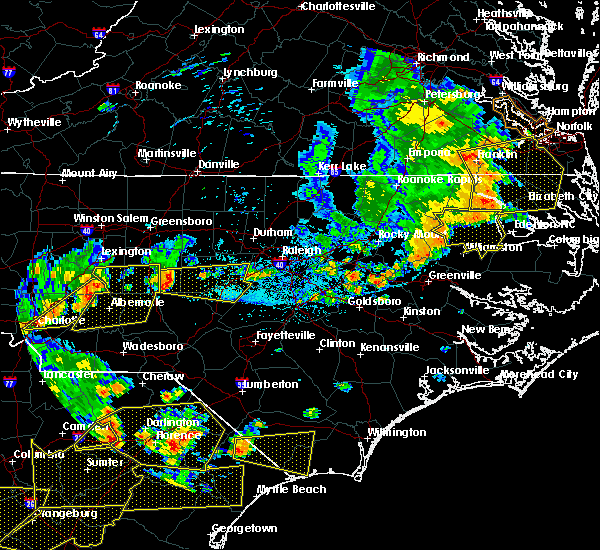 Radar Image for Severe Thunderstorms near Norwood, NC at 6/20/2019 5:04 PM EDT
