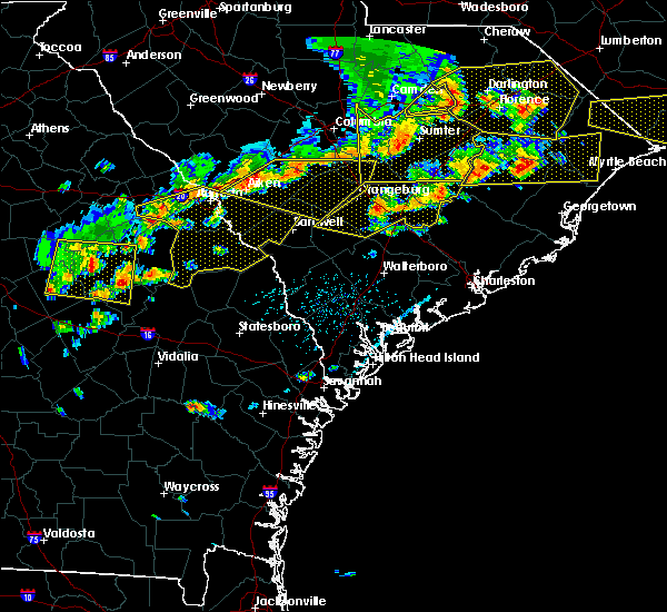 Radar Image for Severe Thunderstorms near Williston, SC at 6/20/2019 5:03 PM EDT