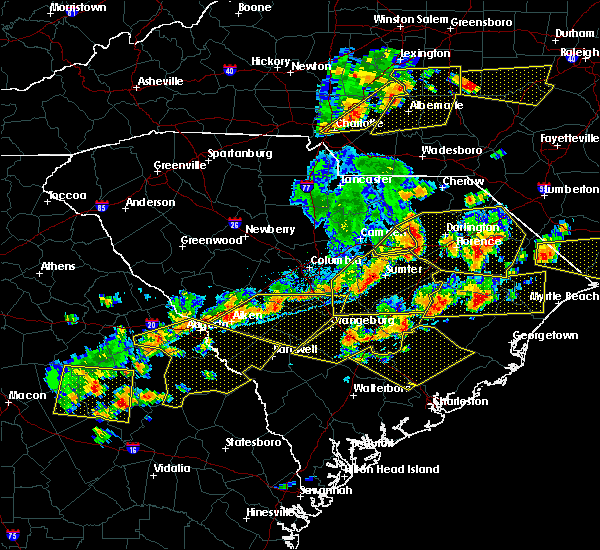 Radar Image for Severe Thunderstorms near Alcolu, SC at 6/20/2019 5:06 PM EDT