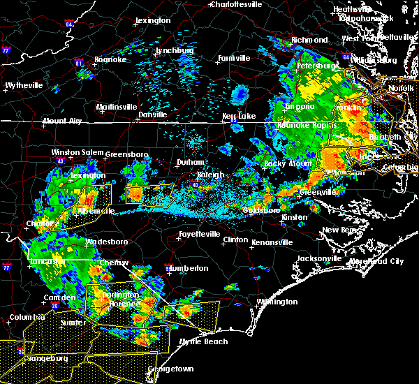Radar Image for Severe Thunderstorms near Norwood, NC at 6/20/2019 5:23 PM EDT